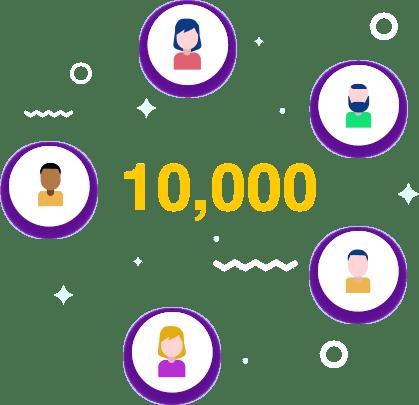 10000 friends